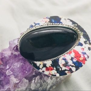 Urban Outfitters Onyx Ring - Size 6